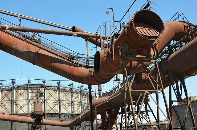 промышленность, резервуар для газа, острава