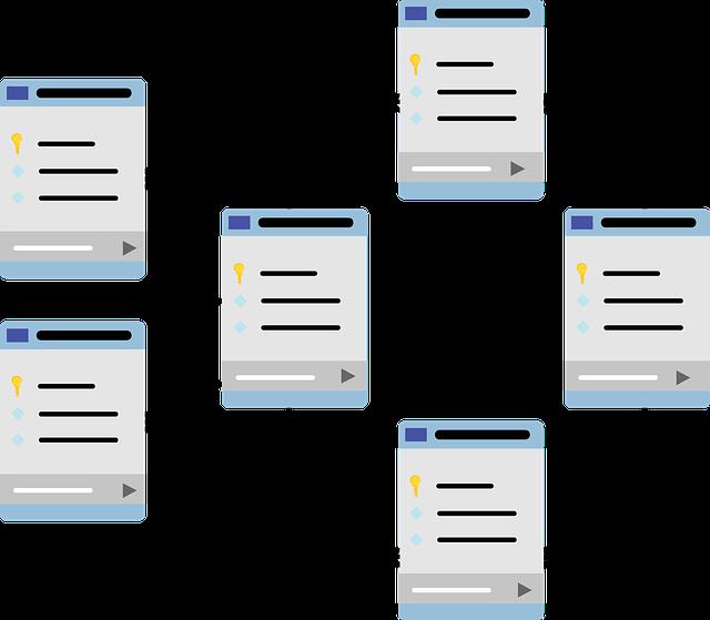 схема базы данных, таблицы данных, схема